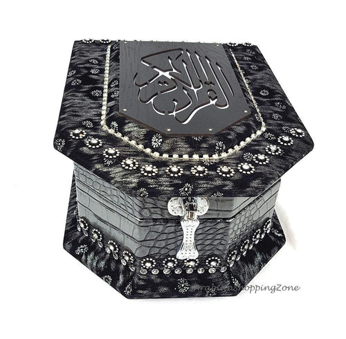 The Holy Quran Muslim Home Decorated BOX Islam WEDDING GIFT 552