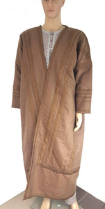 Arabian Men Winter Long Thick Wool & Cotton Coat