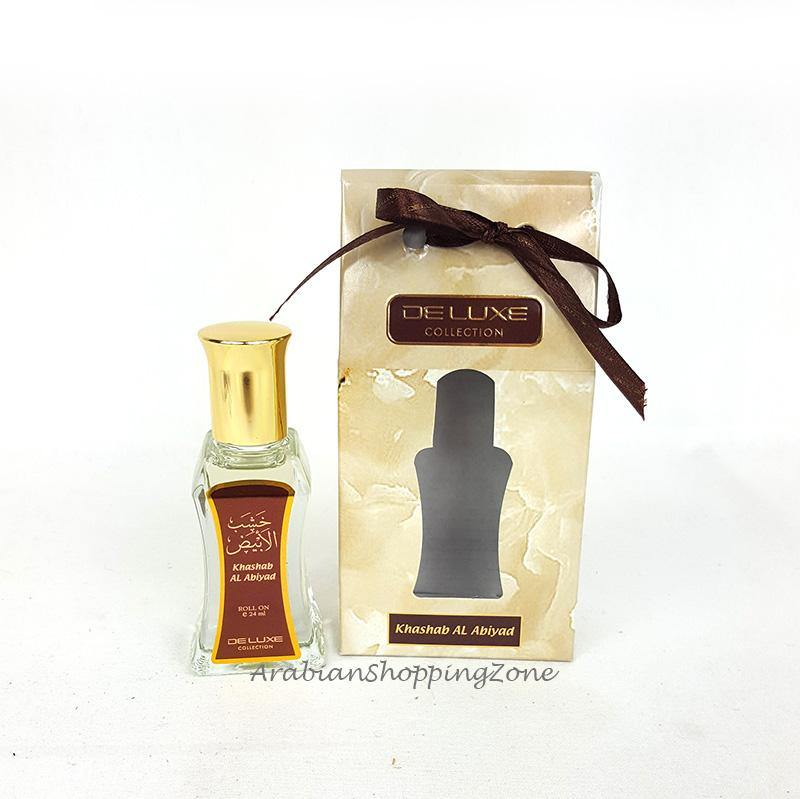 Khashab Al Abiyad Roll On Perfume Oil 24ml by Hamidi Perfumes
