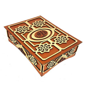 Handmade  Wood Quran Box 9""