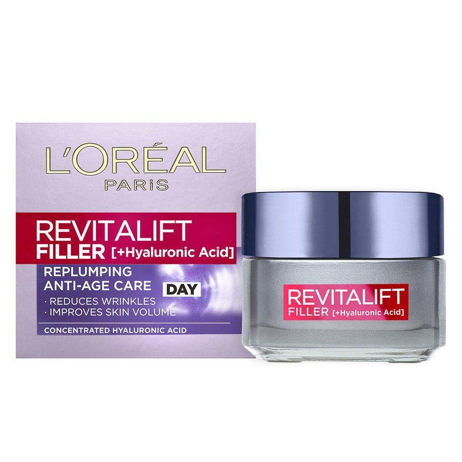 L'Oreal Revitalift Filler Replumping Care Day Cream + Hyaluronic Acid (50ml)