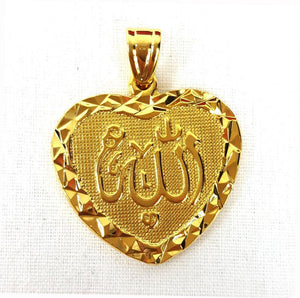 24k Gold Plated Islamic Pendant Copper Necklace - Islamic Shop