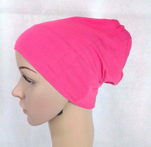 Cotton UnderHijab Scarf Shawl Slip on Bonnet Hijab Tube Hair Loss (12 colors) - Arabian Shopping Zone