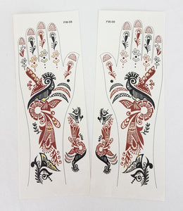 NEW a pair of Arabic Muslim Tattoo Stickers Temporary Body Art for Women Hands - Arabian Shopping Zone