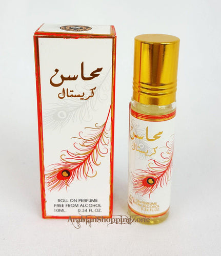 Mahasin Crystal Perfume Oil ATTAR 10ml (0.34OZ) UAE ARD AL ZAAFARAN No Alcohol