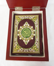 "10"" Quran Silver Covered Decorated Wooden Storage Box #2314S"