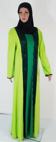 Cotton Kaftan Islamic Abaya Jilbab Long Sleeve HSZ10017 (US12/14EU42/44UK16/18)
