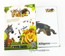 INTERACTIVE ALPHABET FOR CHILDREN-ANIMAL 4D+ 26CARDS