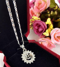 Islamic Allah Pendant Necklace For Women Silver/Gold Color Cubic Zirconia