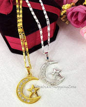 Allah Name Pendant Necklace For Women Silver-Gold Color - Islamic Shop