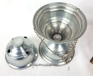Stainless Steel Bakhoor Incense fragrance Bakhur oil oud Burner Mabkhara - Arabian Shopping Zone