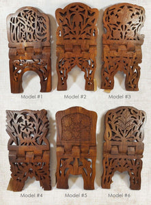 "15"" Pakistan Wood Crafts Sheesham Book Holder/Carving Islamic Holy Quran Holder - Islamic Shop"