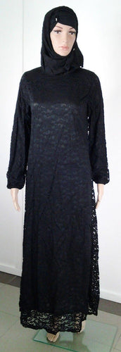 Lace Kaftan Women Islamic Abaya Jilbab Long Sleeve HSZ10016 (US6/EU36/UK10) - Arabian Shopping Zone