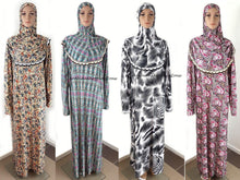 Muslim Islamic Galabeya Isdal Kaftan Gilbab Prayers Izdal Abaya Hijab Dress Eid - Arabian Shopping Zone