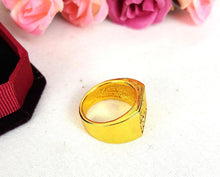 Muslim Islamic 18K Gold Plated ARABIC MEN'S RING MOHAMMAD ALLAH
