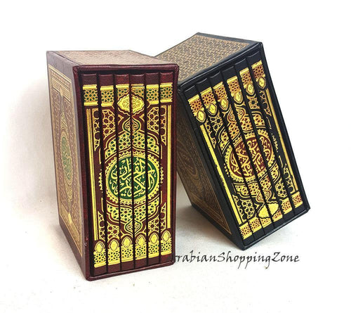 Arabic Holy Quran Uthmani Script 6-Part-Set size 12 x 8 cm (5*3