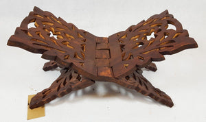 "11"" Pakistan Wood Crafts Sheesham Book Holder/Carving Islamic Holy Quran Holder - Islamic Shop"