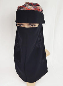 Niqab Face cover Veil Muslim Hijab Saudi Nikab Niqaabs with Flap (Tanda Estic)