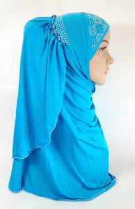 Pull-on Easy Muslim Hijab Fashion Islamic Scarf Viscose Ice Silk MLl061