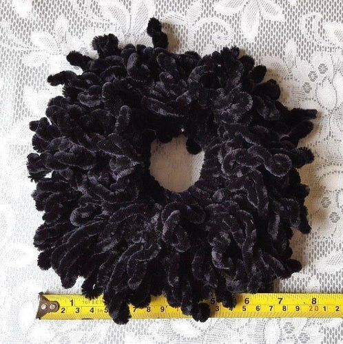 Hijab Khaleeji Volumizer Velvet Scrunchie Large Maxi Flower Hair Tie Bun Scarf