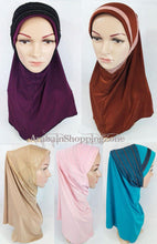 High Quality Viscose Lycra Lace Muslim Hijab Islamic Scarf Shawls Slip-on - Arabian Shopping Zone