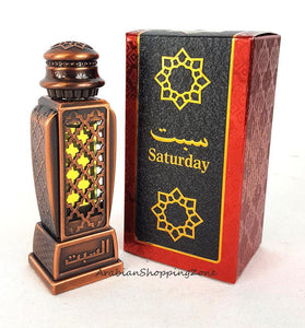 Saturday Arabian Spicy Fruity Floral Saffron Ambery 15ml by Al Haramain