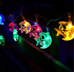 EID Ramadan 4M/20 LED Festival String Light Decoration Star Moon