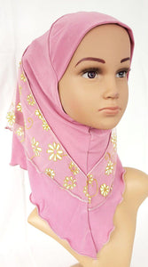Crystal Hemp Toddler Children Kids Hijab Islamic Scarf Shawls -7270