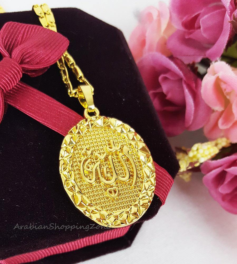 Islamic Allah Pendant Necklace For Women Silver/Gold Color