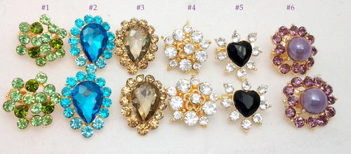 New Islamic Beautiful Brooch Hijab Scarf Hat SaftyPin Rhinestones 1.5-2cm