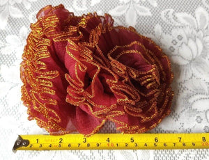 Hijab Khaleeji Volumizer Scrunchie Large Maxi Flower Hair Tie Bun Scarf