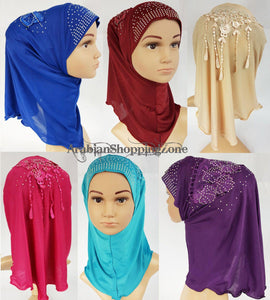 Ice Silk Toddler Kids Children Hijab Islamic Scarf Shawls -0913