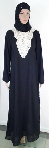 Chiffon double layer Kaftan Women Islamic Abaya Jilbab Long Sleeve HSZ10009 (ML)