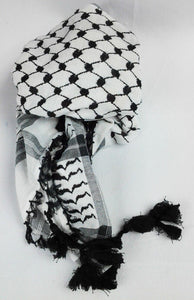 "51"" Black Arab Shemagh Head Scarf Neck Wrap Authentic Cotton Palestine Arafat - Islamic Shop"
