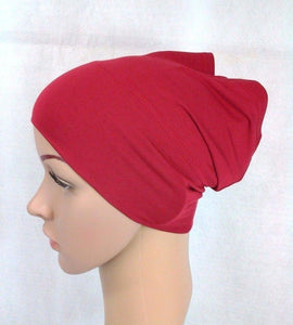Cotton UnderHijab Scarf Shawl Slip on Bonnet Hijab Tube Hair Loss (12 colors)