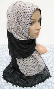 Women's Muslim Autumn Scarves Shawl Wrap Hijab knitting padded
