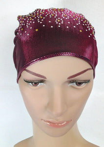 SHINING THREADS RHINESTONE Muslim Inner Caps Islamic Underscarf Hats Ninja Hijab - Arabian Shopping Zone