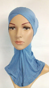 Fashion Cotton Muslim InnerHijab Cap NEW Cross-Forehead Islamic Underscarf/Hijab