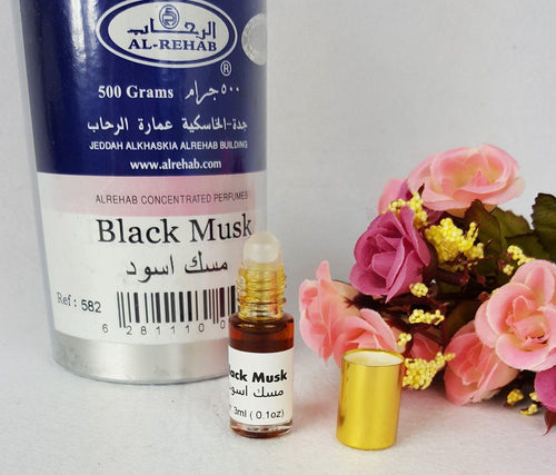 AL Rehab BLACK Musk Oil Perfume Wild Deer Musk Base Roll-on 3ml - Islamic Shop