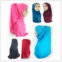 Pull-on Easy Muslim Hijab Fashion Islamic Scarf Viscose Ice Silk MLl061 - Arabian Shopping Zone