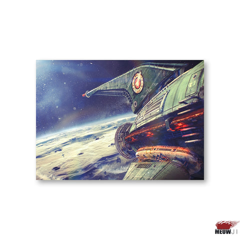 Futurama Planet Express Ship (Canvas Print)