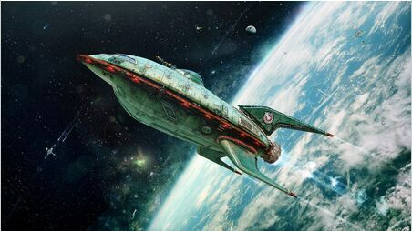 Futurama Planet Express Ship - Earth (Canvas Print)