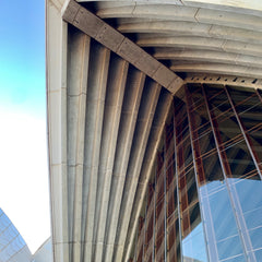 The architecture at Sydney Opera House