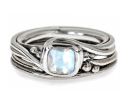 Moonstone Pirouette Ring