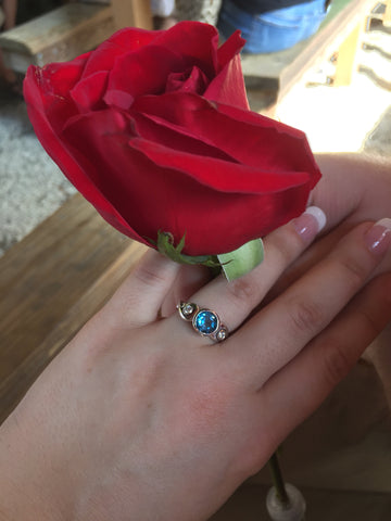 Alex's London Blue Topaz Ring | Metalicious