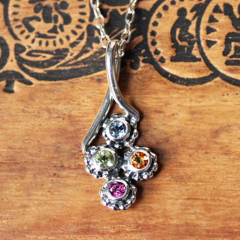 Mother's Day Quad Birthstone Necklace
