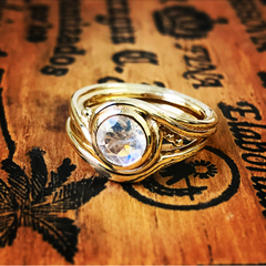 Moonstone Bridal Ring Set