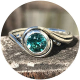 Pirouette Ring with Tourmaline