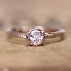 Morganite Ring in Rose Gold