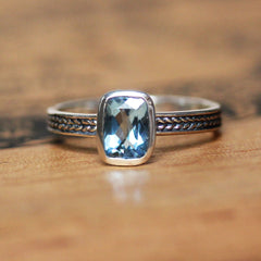 Aquamarine Wheat Ring